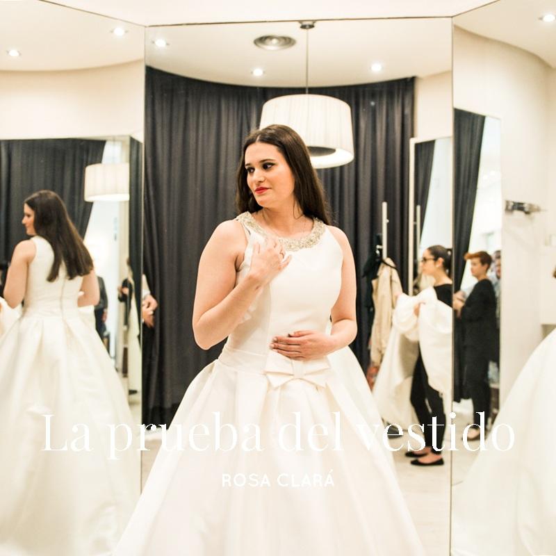 La prueba del vestido de novia